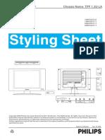 Philips 15mf500t 15mf605t 20mf605t Styling Sheet Parts