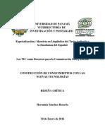 Construcción de Conocimientos Con Las Nuevas Tecnologías - Herminia Sánchez R. - Reseña Crítica