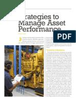 Reliablie Plant Strategies Manage Asset Performance