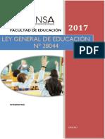 LEGISLACION EDUCATIVA LEY N° 28044