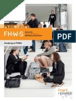 Broschüre Study at FHWS English