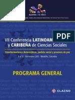 Programa General Conferencia Clacso2015