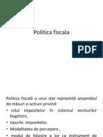 1. Politica Fiscala - Modificat