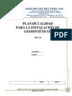 Plan de Calidad de Instalacion de Geomembranas de Hdpe