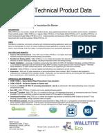 Foam Insualtion R Value WALLTITE Eco v.3 Technical Data sheet.pdf
