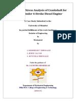 DESIGN AND STRESS ANALYSIS OF CRANKSHAFT FOR 4 STROKE DIESEL ENGINE