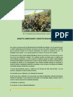 Ejercito Libertador y Ejercito Bolivariano