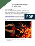 6 Potentes Suplementos Naturales Para Combatir La Inflamación