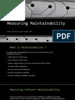 Measuring Maintainability