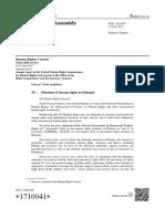 Eritrea introduced Resolution L38