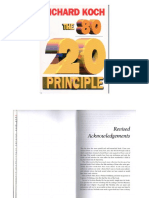 The 80 20 Principle Part 1