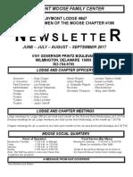 Moose Newsletter June July Aug Sept 2017