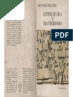 Hauser, Arnold - Literatura y Manierismo, Ed. Guadarrama, Madrid, 1969