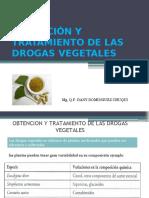 2 Métodos de Obtención y Tratamiento de Drogas Vegetaes