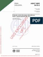 NBR - 5419-2-2015 - Proteção Contra Descargas Atmosféricas - Parte 2 - Gerenciamento de Risco