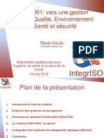 Iso 45001 Vers Une Gestion Integree Qualite Environnement Et Sante Et Securite