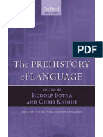 The Prehistory of Language Chapters 1 and 2