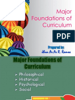 major foundations of curriculum