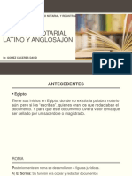 Sistema Notarial Latino y Anglosajón