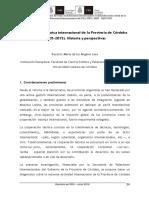 Cooperación técnica internacional de la Provincia de Córdoba (2005-2015). Historia y perspectivas