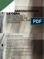 ORGANIZACION DE OBRAS