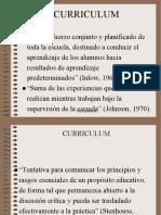 Definiciones de Curriculum