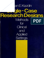 Single-case Research Designs - Alan E. Kazdin