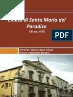 Chiesa Di Santa Maria Del Paradiso Milano (Mi)