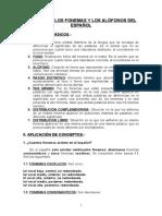 3.- Los Fonemas y Los Alófonos Del Español