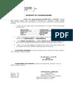 Affidavit of Change Engine