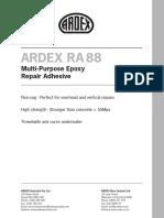 ARDEX RA 88 Datasheet