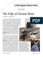 Larouche - The Folly of Chronic Wars