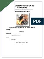 Ensayo de Seguridad y Salud Ocupacional __ Andrea Aguaiza __ Septimo A