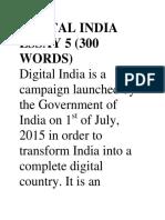 Digital India Essay 5