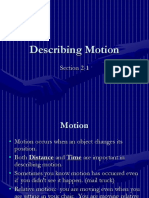 2.1 Describing Motion