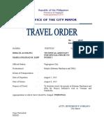 Travel Order 43535