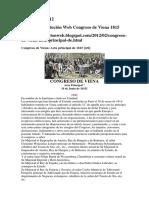 Congreso de Viena 1815 Acta Principal