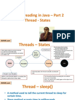 Threads – States Multithreading Part 2