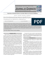 Azeotropic Distillation of MeoH and Tolune With O-xylene