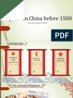 Filipinos in China Before 1500
