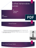 Wind and Other Renewable Energy Sources