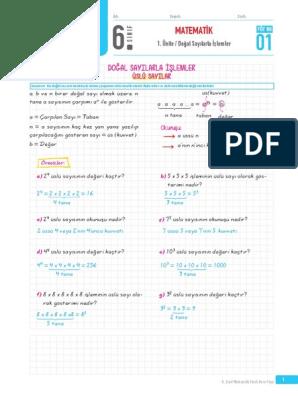 6 Sinif Matematik Pdf