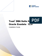 Toadfororacle12.0 DBA Suite Exadata Installation Guide