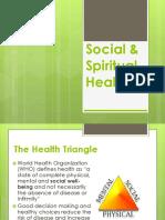 3. Social & Spiritual Health