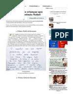 24Anotações deCrianças Que Merecem UmPrêmio Nobel