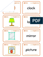 Flashcards Home Objects