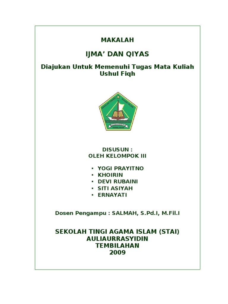 Makalah Ijma Dan Qiyas