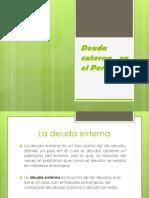 Deuda Externa en El Perú