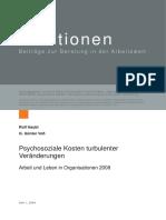 Haubl & Voß - (2009) Psychosoziale Kosten Turbulenter Veränderungen