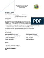 Thesis Letter (Sample)